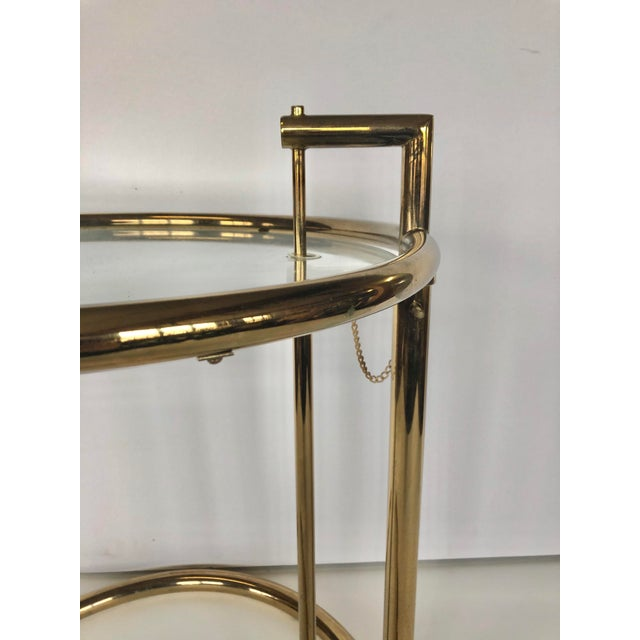 1970s 1970s Eileen Gray Modern Brass Side Table For Sale - Image 5 of 6