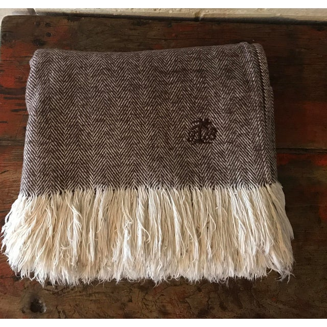 Brown & Ivory Woven Cotton Throw - Image 4 of 10