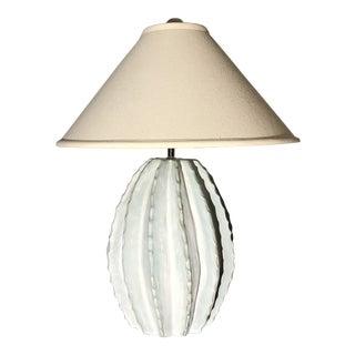 Vintage Aquagreen Cactus Lamp
