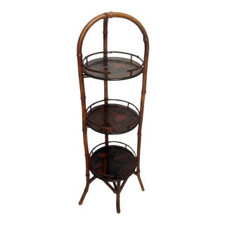 19th Century English Bamboo Muffin Stand / Étagère For Sale