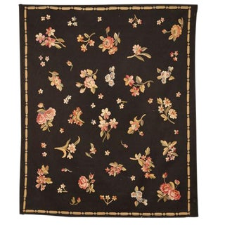 Antique Late 19th Century French Aubusson Rug For Sale