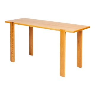 Studio Craft Console Table in American Oak For Sale