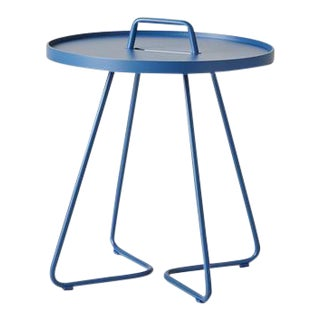 Cane-Line On-The-Move Side Table, Small, Dusty Blue For Sale