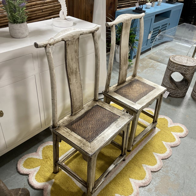 Vintage Asian Emperor's Chairs - a Pair For Sale In West Palm - Image 6 of 9