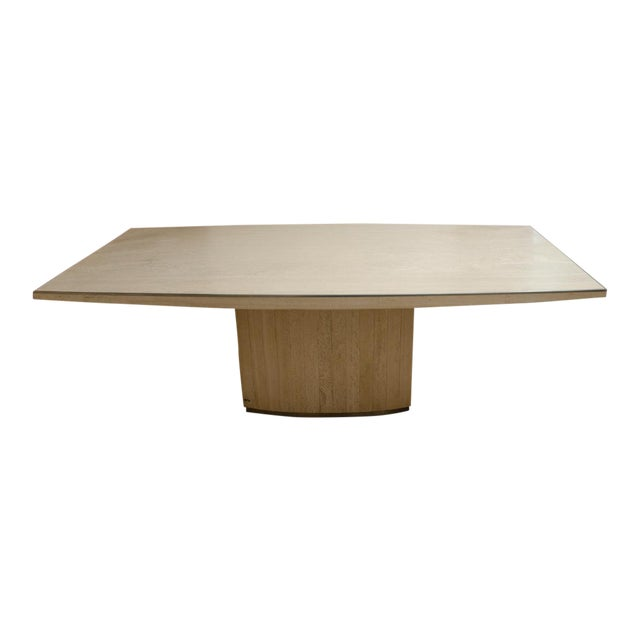 Willy Rizzo Signed Travertine Dining Table For Sale