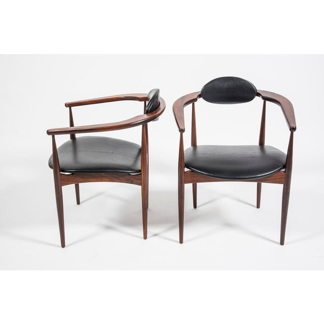 Adrian Pearsall Craft Associates Mid Century Black Leather 950 Chairs - a Pair For Sale - Image 13 of 13