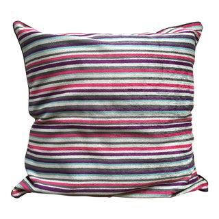 Striped Chenille Velvet Pillow