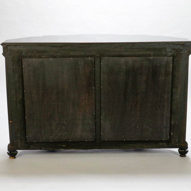 Italian Ebonised Mahogany Console with Mirrored Back For Sale - Image 9 of 10