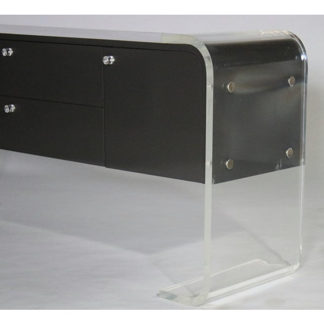 Lucite Lucite and Lacquered Wood Sideboard For Sale - Image 7 of 9