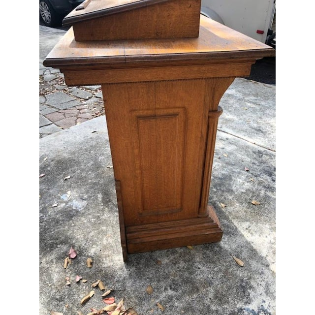 1900 - 1909 Antique Gothic Style Oak Church Lectern For Sale - Image 5 of 6