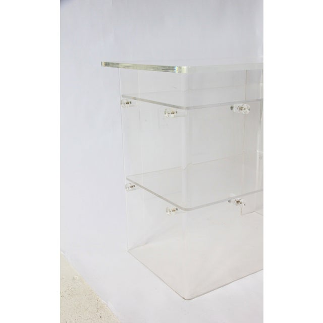 Vintage Lucite Media Console / Bar - Image 4 of 8