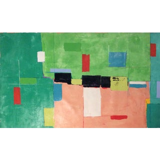 Contemporary Abstract Unstretched Canvas Painting For Sale