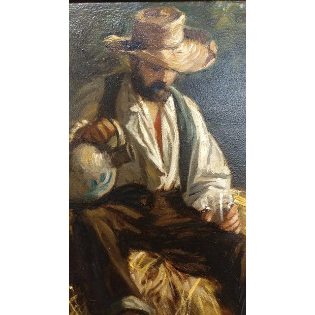 Rest From the Harvest -Original 19th Century Oil Painting -Signed - Image 5 of 9