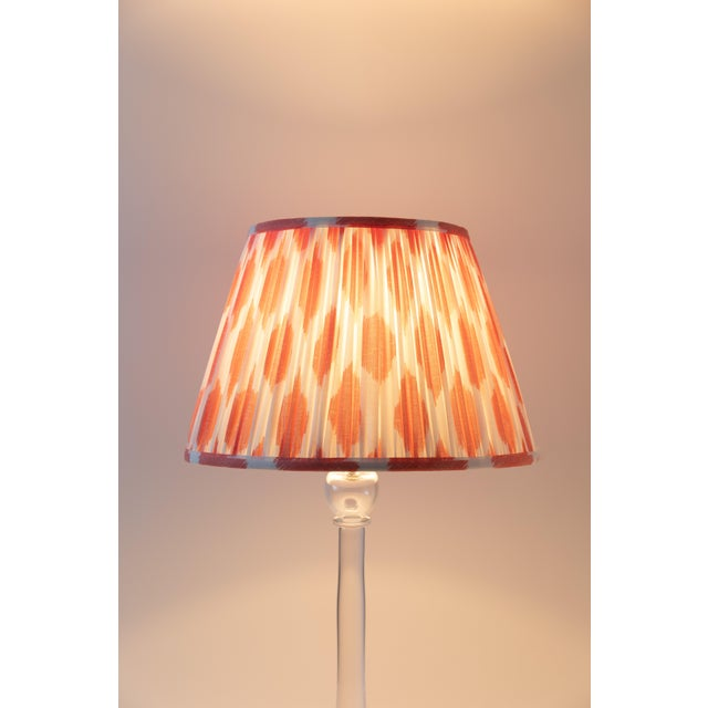 """Contemporary Signature Ikat in Coral 18"""" Lamp Shade, Peach For Sale - Image 3 of 7"""