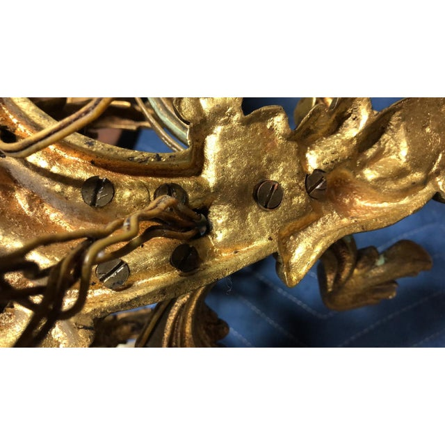French 19th Century Gilded Bronze Wall Sconces For Sale - Image 11 of 12