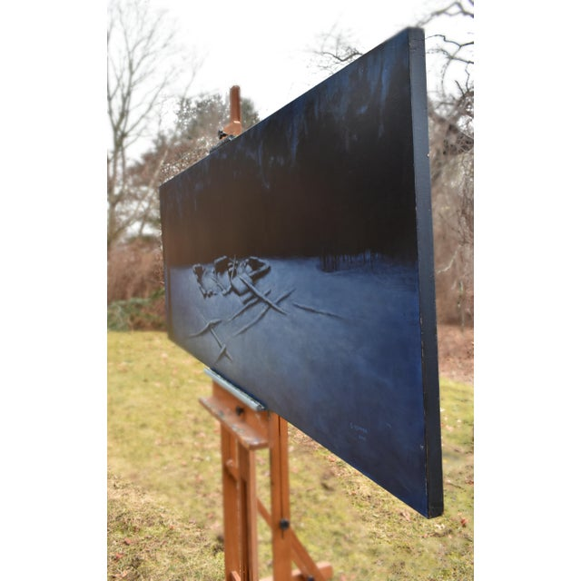 """Black 2010s Contemporary Painting, """"Old Cellar Hole in the Woods"""" by Stephen Remick For Sale - Image 8 of 11"""