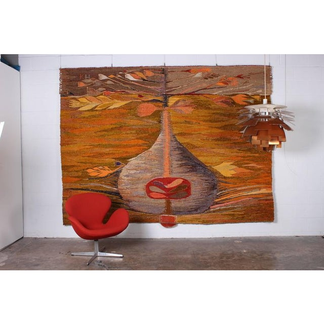 "Large Tapestry by Krystyna Wojtyna-Drouet Titled ""Fruit"" - Image 2 of 10"