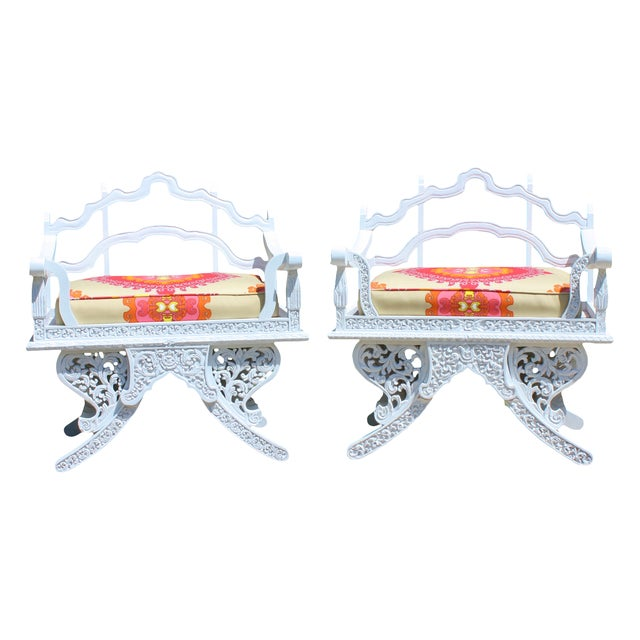 Trina Turk Howdah Elephant Chairs - Pair - Image 1 of 4