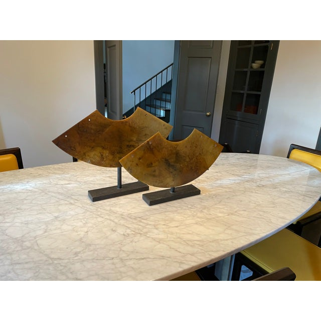 Early 20th Century Vintage Architectural Sculptural Decor on Iron Stands - Pair For Sale - Image 5 of 10