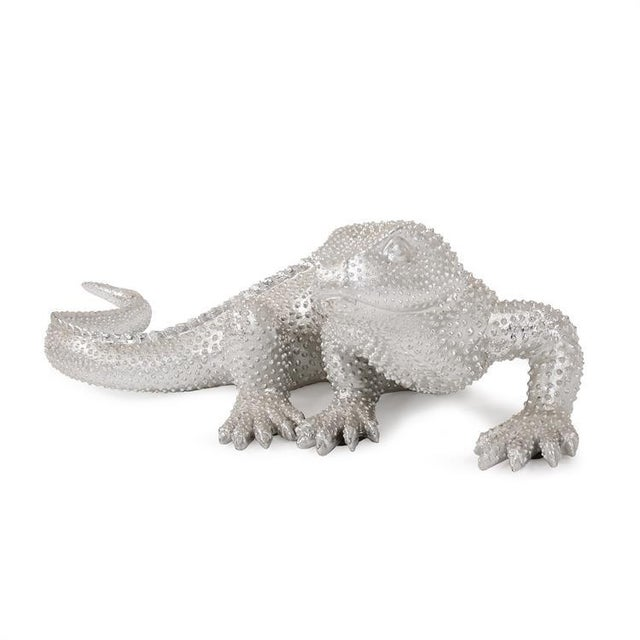 Contemporary Kenneth Ludwig Chicago Bright Nickel Plated Lizard For Sale - Image 3 of 10