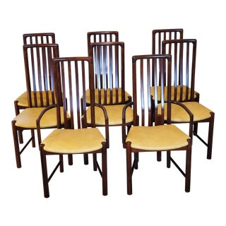 Mid Century Modern Danish Rosewood Chairs- Set of 8 For Sale