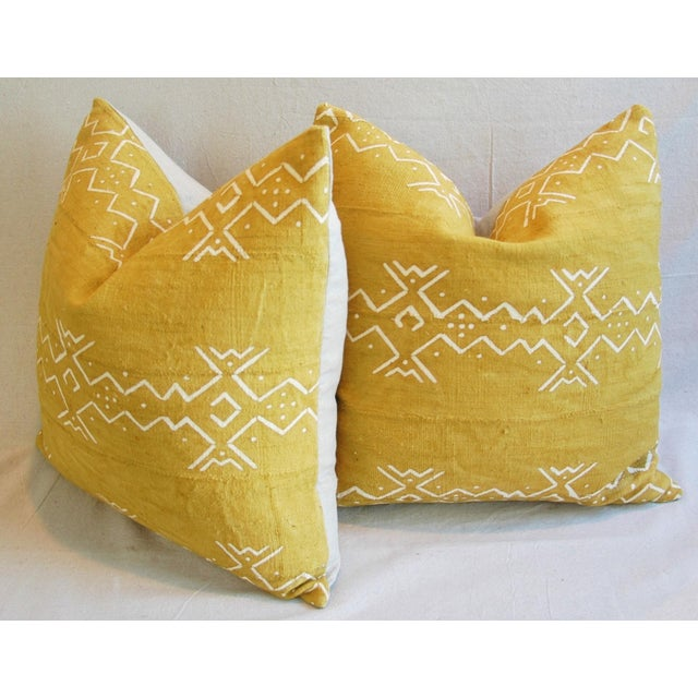 Handwoven Tribal Textile Feather/Down Pillows - Pair - Image 8 of 11