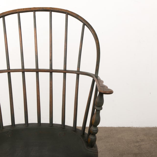 Mid 18th Century 18th C. Peg Krupp Private Collection Windsor Chair #2 With Extended Arms For Sale - Image 5 of 12
