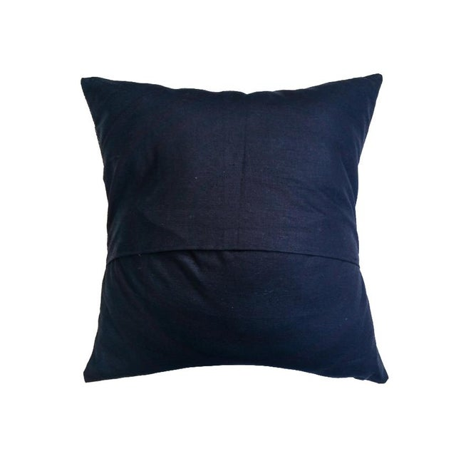 Blue Iris African Wax Print Pillow Covers - A Pair - Image 4 of 4