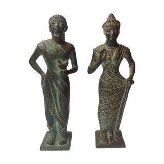 Mid Century Ugo Zaccagnini Figures - Pair For Sale