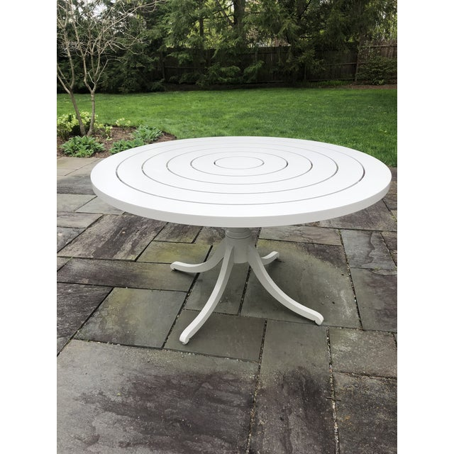 McKinnon and Harris Round Outdoor Patio Dining Table For Sale - Image 13 of 13