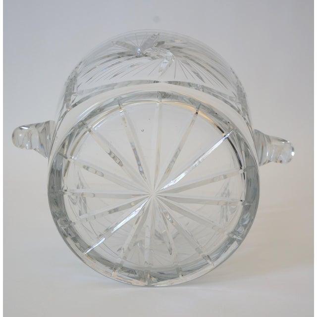 Vintage Ice Bucket Lead Crystal Pressed Design For Sale - Image 9 of 13