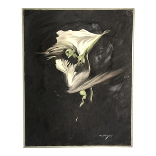 Vintage Art Deco Nymph Painting For Sale