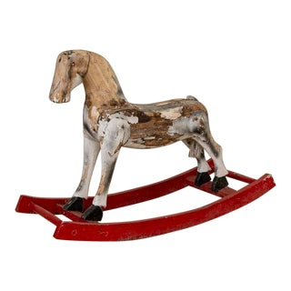 Early 20th Century Antique Vintage Swedish Rocking Horse For Sale