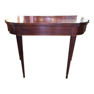 Sheraton Style Flip Top Game Table For Sale