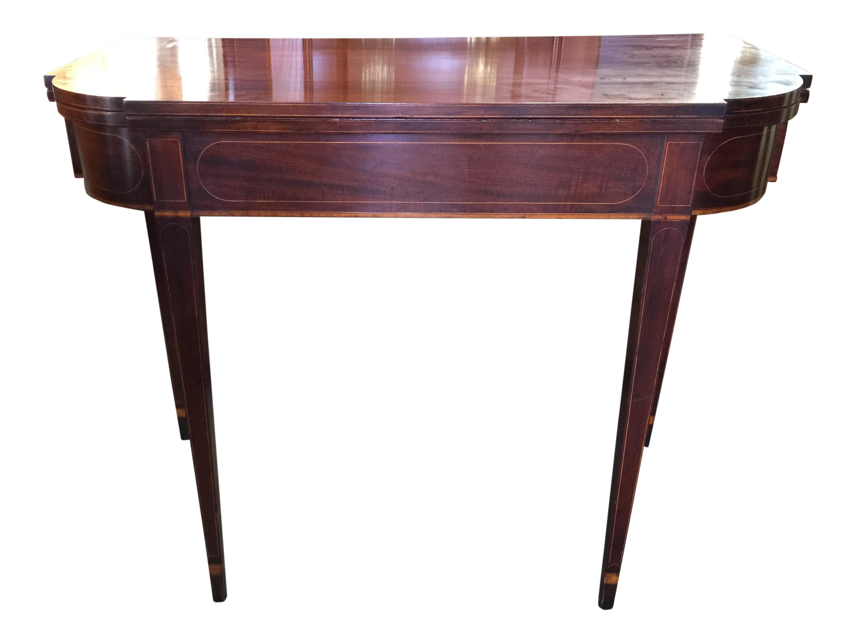 Beau Sheraton Style Flip Top Game Table