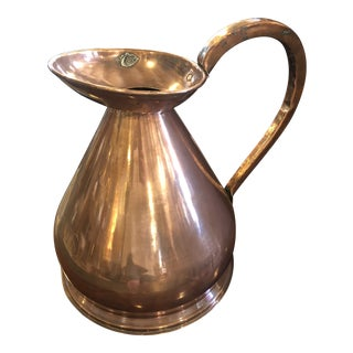 Mid 20th Century 2 Gallon Copper Haystack Pitcher For Sale