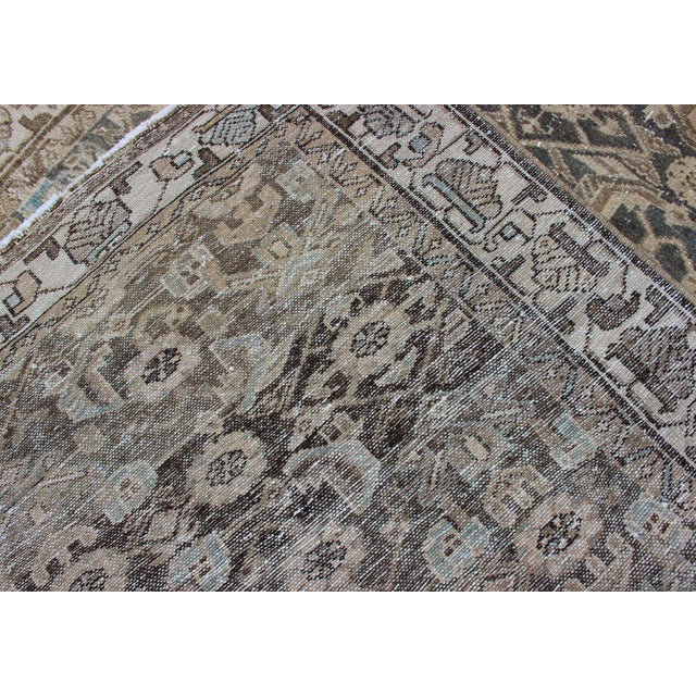 Earthy Tone Vintage Persian Hamadan Rug With All-Over Pattern For Sale - Image 11 of 12