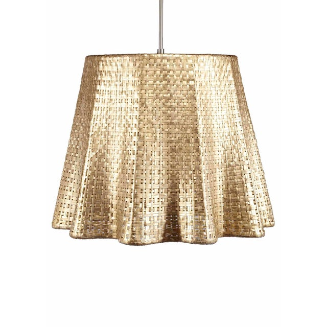 Selamat Designs Seline Metallic Drapery Pendant Light - Image 1 of 2