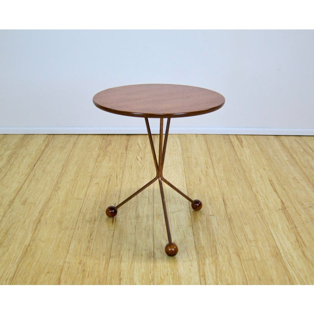 "1950s Larssons Möbelfabrik ""Table in a Jar"" Side Table For Sale In New York - Image 6 of 13"