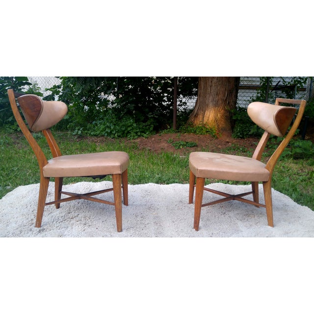 Mid-Century Slipper Chairs by Drexel - A Pair - Image 2 of 5