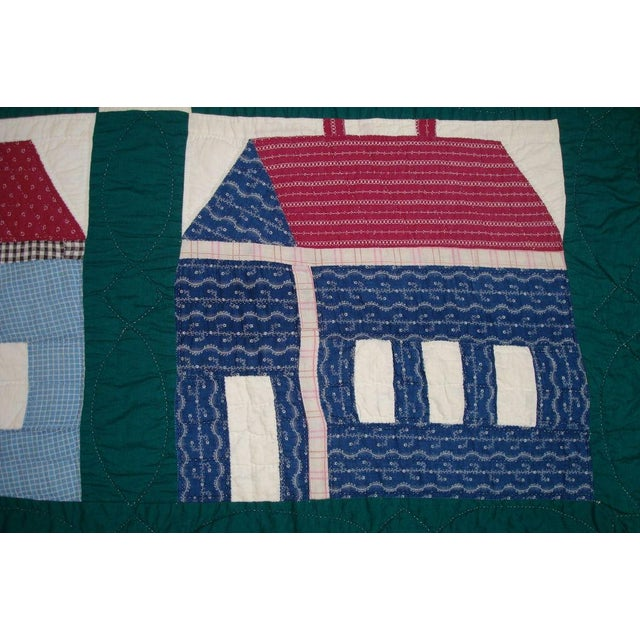 Early 20thC. Folky School House Quilt - Image 5 of 9