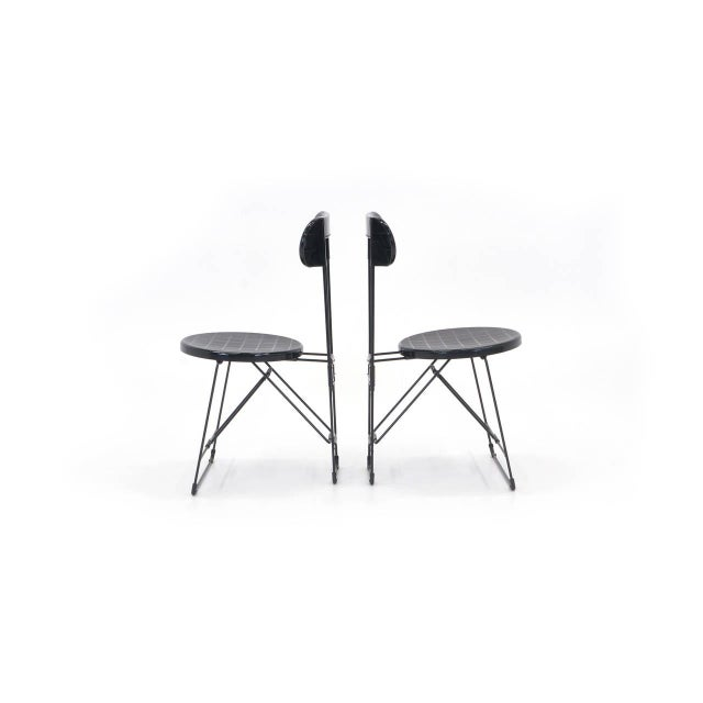 Set of six cricket folding chairs, also called cricket folding stools. Lightweight and easy to store. Comfortable and...