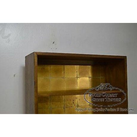 Wood Henredon Campaign Style Open Bookcase Cabinet For Sale - Image 7 of 13