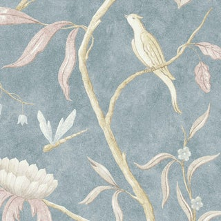 Lewis & Wood Adam's Eden Fresco Celestial Botanic Wallpaper Sample For Sale