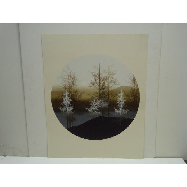 "This is a limited edition, numbered (56/250) and signed print, titled ""Tree Slope"" by Virgil Thrasher."