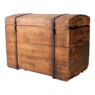 Antique Wood Chest For Sale