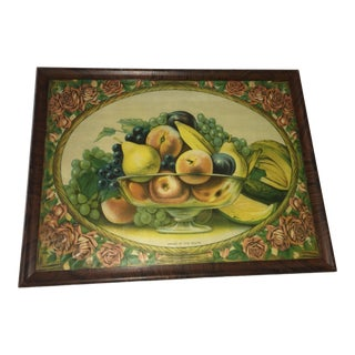 1940s Vintage Pride of the South Fruit Lithograph Print For Sale