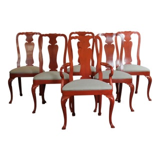 Kindel Red Dining Chairs - Set of 6 For Sale