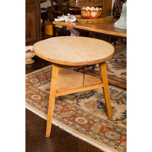 Country Sycamore Cricket Table With Triangular Shelf, English Circa 1860 For Sale - Image 3 of 5