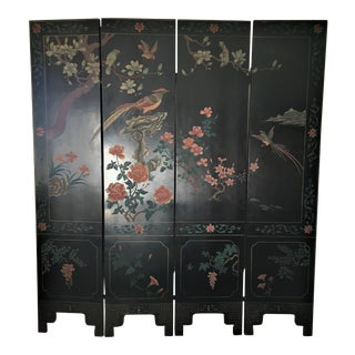 Chinese 4 Panel Coromandel Screen For Sale